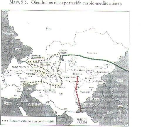 Oleoductos de Exportación (Caspio Mediterráneo)