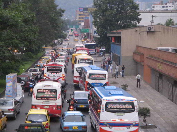 Problema del transporte en Bogotá