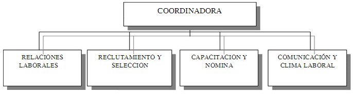 Composición del Organigrama del Departamento de Recursos Humanos de EGE HAINA