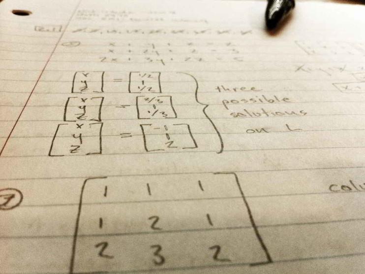 Teoría del álgebra lineal