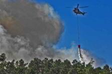 Incidencia de los incendios forestales en un parque natural.