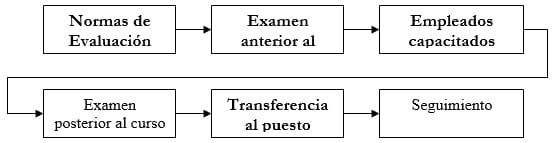 Etapas de evaluación de un proceso de capacitación laboral