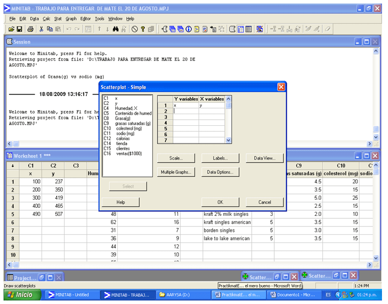 Minitab - Variables
