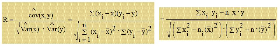 Correlación y regresión lineal - Coeficiente de correlación