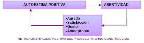 Retroalimentación positiva del proceso interno construcción