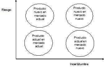 Riesgo e incertidumbre en productos y mercados actuales y nuevos