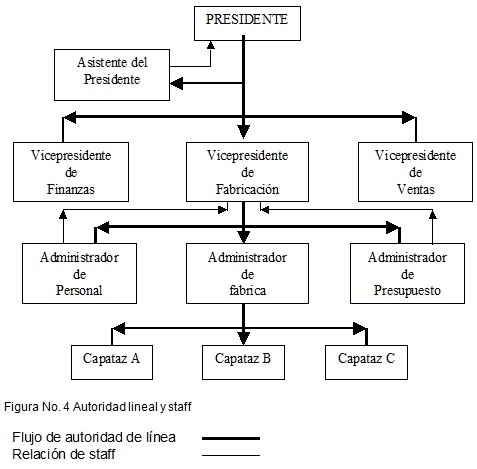 Autoridad lineal y staff