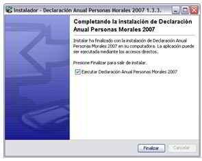 Declaración anual de personas morales 2006 México