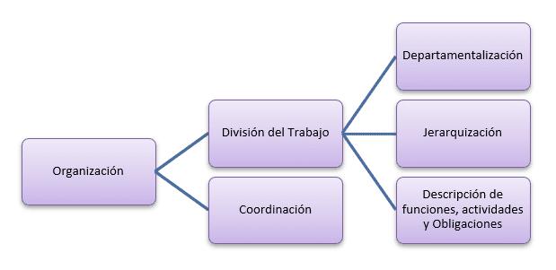 Esquema de la estructura organizativa