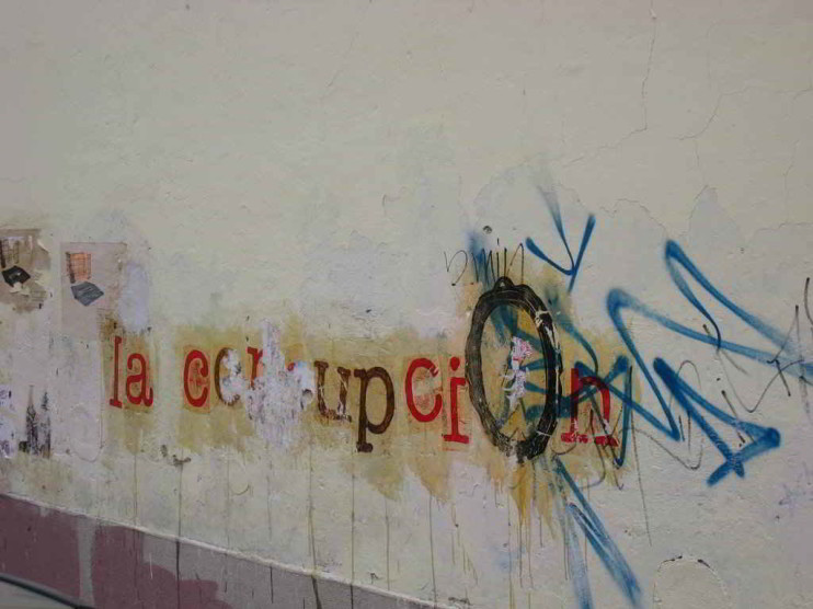 Prácticas que llevan a la corrupción en instituciones en México
