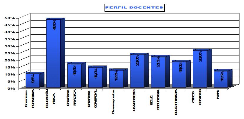 Perfil de los docentes de deportes
