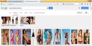 Estrategia de venta de trajes de baño en internet