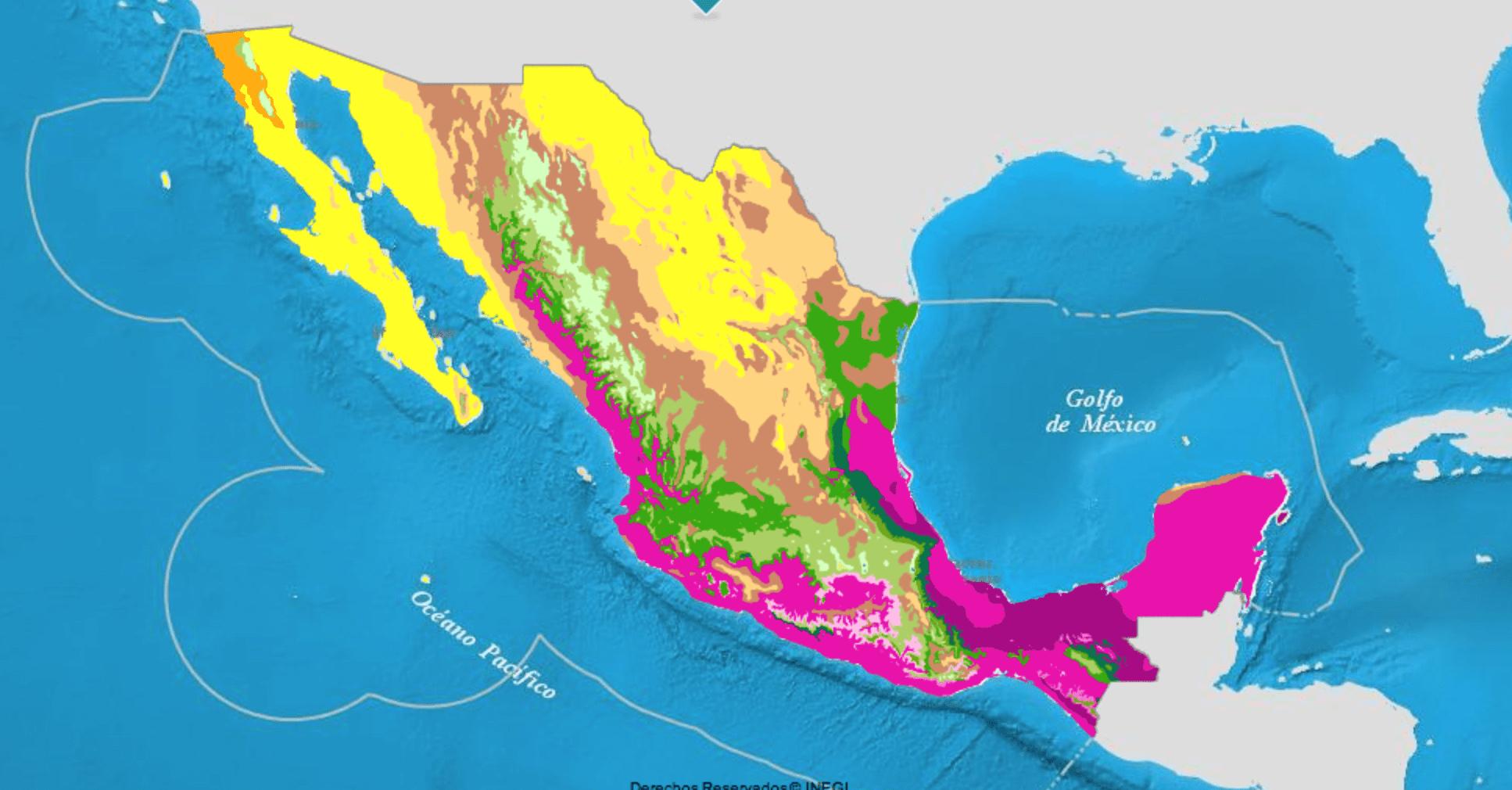 Mapa de suelos en México