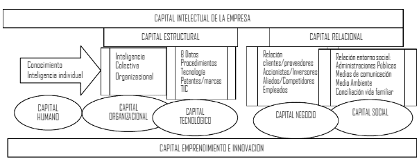 Capital Intelectual de la Empresa. Diagrama