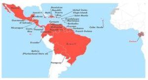 Distribución de los países más afectados por Dengue, Chikungunya y Zika en América Latina