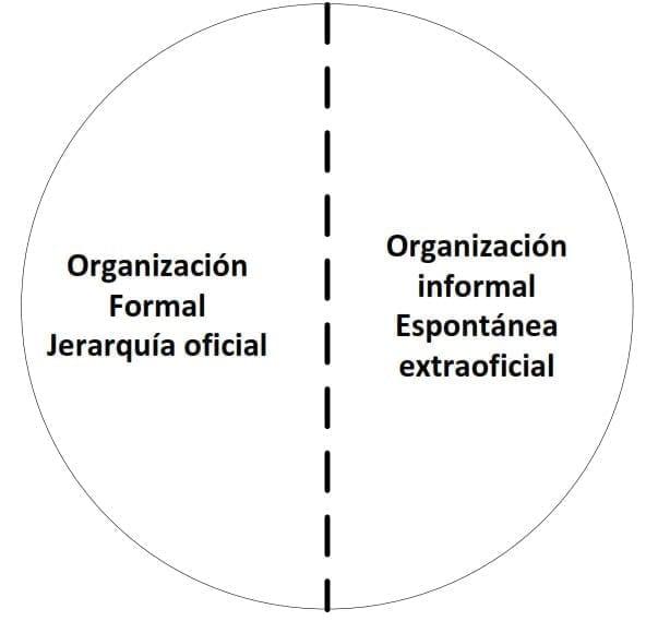 Organización real = organización formal + organización informal