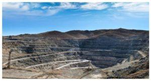 Yacimiento de minería a cielo abierto en Europa