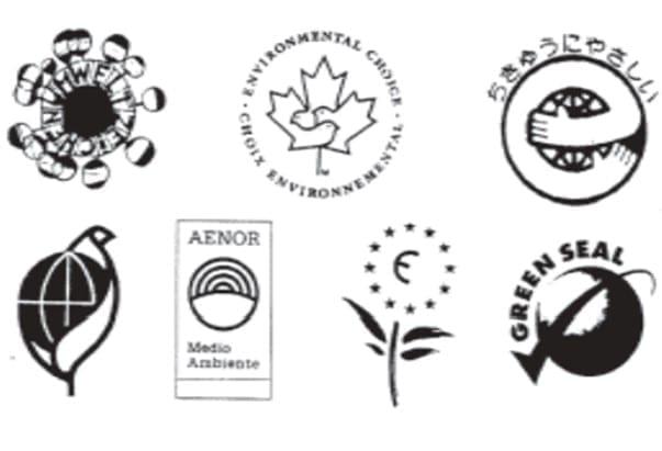 Algunas etiquetas ecológicas que utilizan el ACV para establecer sus criterios. (Romero Rodríguez, 2003)
