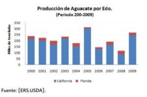Producción de Aguacate en México