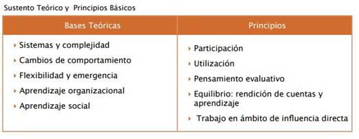 Figura 2. Bases teóricas y principios del MA. (Ambrose, 2009)