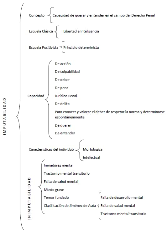 Imputabilidad e Inimputabilidad en el derecho mexicano - Mapa conceptual