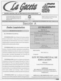 Ley Educación Honduras
