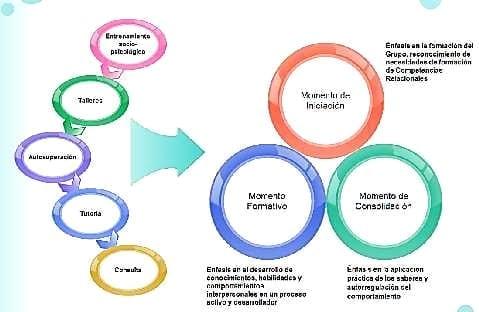 Concepción de momentos y herramientas de formación de la estrategia