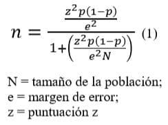 Fórmula análisis estadístico