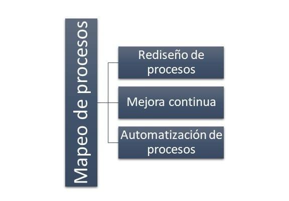 Principales funciones del mapeo de procesos