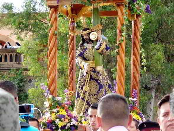 """Imagen de Nuestro Padre Jesús del Calvario, en su tradicional """"Bajada""""."""