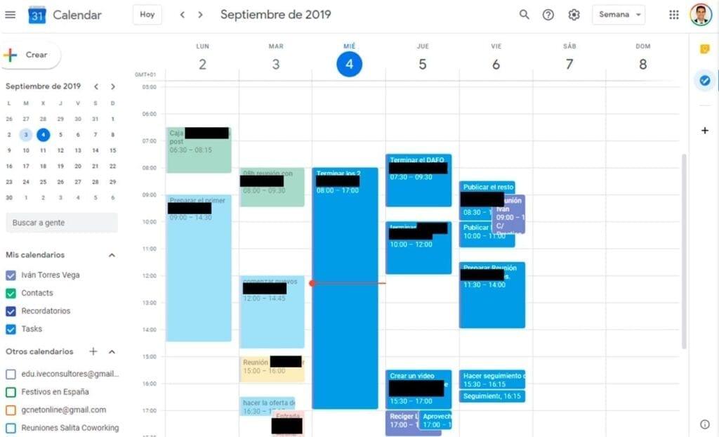 Planificación de un proyecto empleando Google Calendar