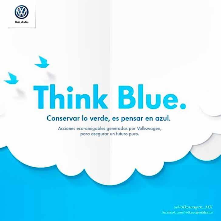 El mensaje de la estrategia Think Blue