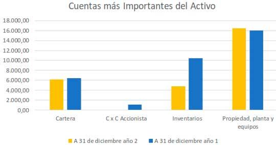 Cuentas más representativas del Activo